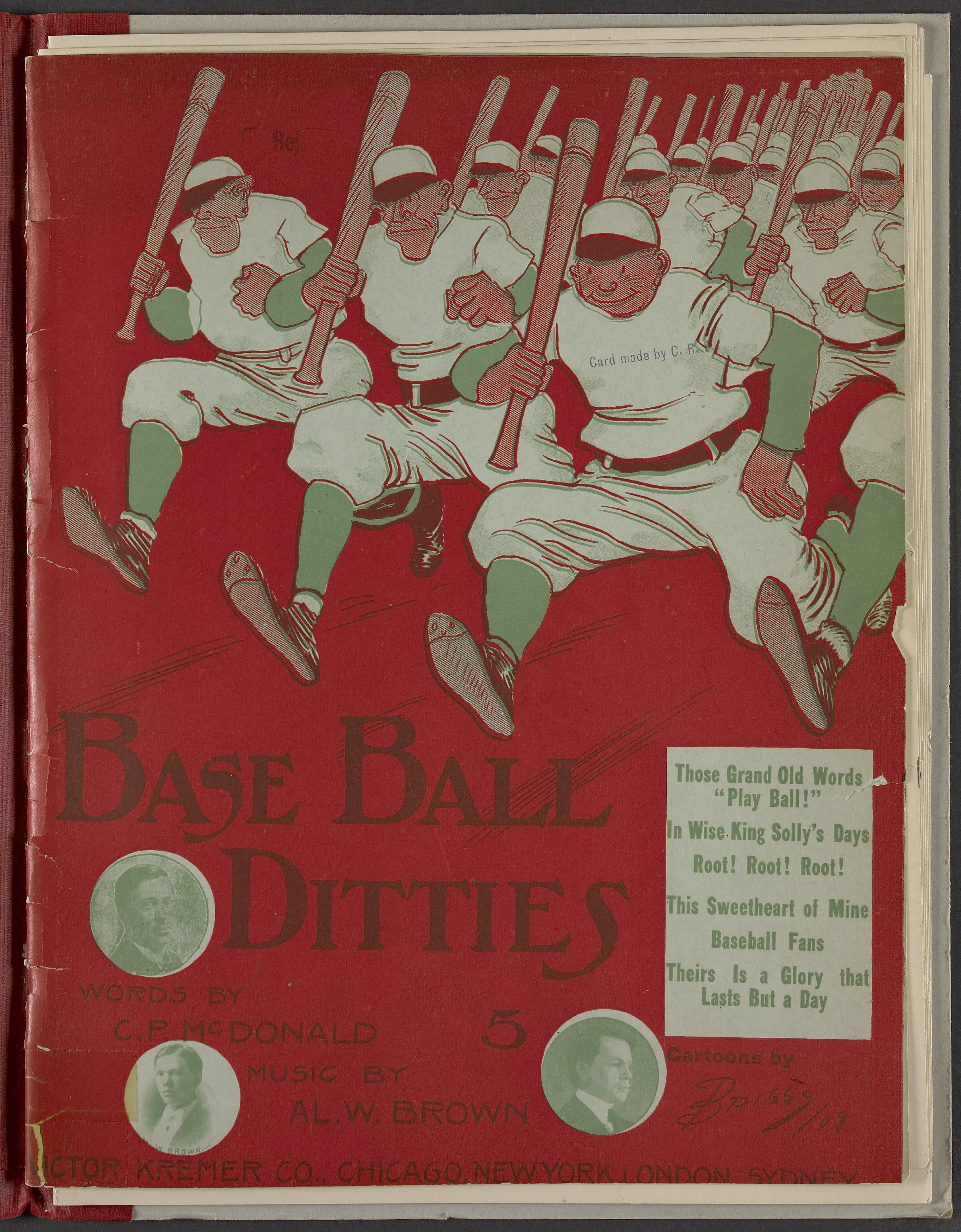 Baseball Music cover - Library of Congress